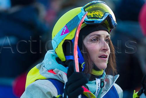 28.02.2016. Toyen, Big Jump Oslo, Norway.  Red Bull X Games Oslo 2016. Ladies Ski Big Air Final. Marie Martinod of France in action during the Ladies Ski Big Air Final at the Red Bull X Games Oslo 2016 in Toyen Big Jump  Oslo, Norway.