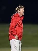 Washington Spirit head coach Mike Jorden yells to his team during the game at the Maryland SoccerPlex in Boyds, MD.  Washington tied Boston, 1-1.