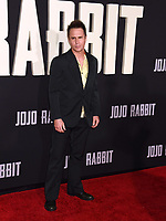 "LOS ANGELES, USA. October 15, 2019: Sam Rockwell at the premiere of ""JoJo Rabbit"" at the Hollywood American Legion.<br /> Picture: Paul Smith/Featureflash"