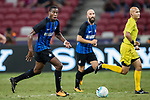 FC Internazionale Midfielder Geoffrey Kondogbia (L) in action during the International Champions Cup match between FC Bayern and FC Internazionale at National Stadium on July 27, 2017 in Singapore. Photo by Marcio Rodrigo Machado / Power Sport Images