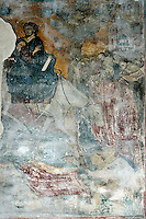 Entry into Jerusalem,fresco,nave,Milesheva  Monastery of Ascension of the Lord , 1234-1235