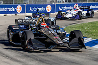James Hinchcliffe, #5 Honda, action, Detroit Grand Prix, IndyCar race, Belle Isle, Detroit, MI, June 2018.(Photo by Brian Cleary/bcpix.com)