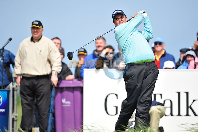 Shane Lowry tees off on the 10th hole during the Final Round of the 3 Irish Open on 17th May 2009 (Photo by Eoin Clarke/GOLFFILE)
