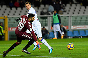 2nd December 2017, Stadio Olimpico Grande Torino, Turin, Italy; Serie A football, Torino versus Atalanta; Salvatore Sirigu watches the ball as Josip Ilicic tries for the goal with a header
