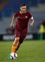 Calcio, Europa League: Roma vs Astra Giurgiu. Roma, stadio Olimpico, 29 settembre 2016.<br /> Roma&rsquo;s Francesco Totti in action during the Europa League Group E soccer match between Roma and Astra Giurgiu at Rome's Olympic stadium, 29 September 2016. Roma won 4-0.<br /> UPDATE IMAGES PRESS/Isabella Bonotto