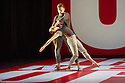 London, UK. 01.10.2013. LA Dance Project come to Sadler's Wells with a mixed bill from Benjamin Millepied, the company's founder, Peck and Forsythe. This piece is REFLECTIONS by Benjamin Millepied. Dancers are: Julia Eichten, Charlie Hodges, Morgan Lugo, Nathan Makolandra and Amanda Wells. Picture shows: Nathan Makolandra and Amanda Wells. Photograph © Jane Hobson.