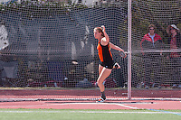 (Photo by Bob Palermini, Freelance)<br /> <br /> Day 2 of the Men's & Women's Outdoor Track & Field SCIAC Championships, hosted by Caltech, on Saturday, April 30, 2016 on the Bill Henry Track at Occidental College's Jack Kemp Stadium.<br /> <br /> (Photo by Bob Palermini, Freelance)