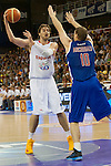 Spain's Pau Gasol and Great Britain's Robert Archibald during friendly match.July 9,2012.(ALTERPHOTOS/Ricky)