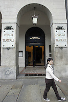 L'entrata del Museo Teatrale alla Scala, a Milano.<br /> The entrance of the Museo Teatrale of La Scala opera house in Milan.<br /> UPDATE IMAGES PRESS/Riccardo De Luca