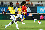 David Jimenez Silva os Spain holds off pressure from  Davison Sanchez of Colombia during the friendly match between Spain and Colombia at Nueva Condomina Stadium in Murcia, jun 07, 2017. Spain. (ALTERPHOTOS/Rodrigo Jimenez)
