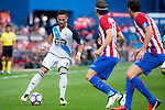 Atletico de Madrid's players Filipe Luis and Diego Godín and Deportivo de la Coruña's player Florin Andone during a match of La Liga Santander at Vicente Calderon Stadium in Madrid. September 25, Spain. 2016. (ALTERPHOTOS/BorjaB.Hojas)