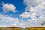 Clouds over US 89 in the Great Plains of central Montana