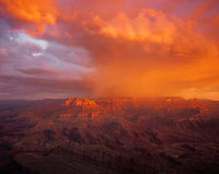 Morning Storm Clouds, Grand Canyon National Park, Arizona   Seen from Lipan Point  view to North Rim   Colorado River