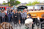 Donal Walsh's funeral arrives at Saint Johns Church, Tralee on Wednesday.