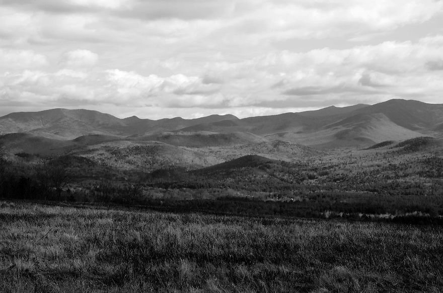 Moody mountain weather is on display in this stark White Mountain B+W image.