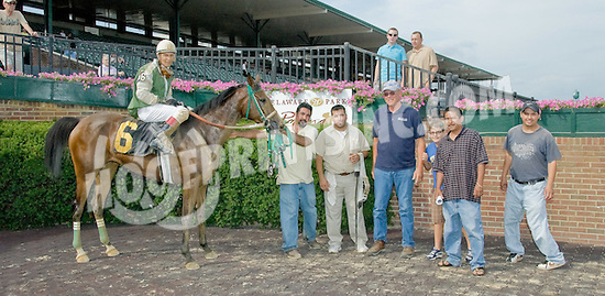 Explosive Heat MVF winning at Delaware Park on 7/11/12