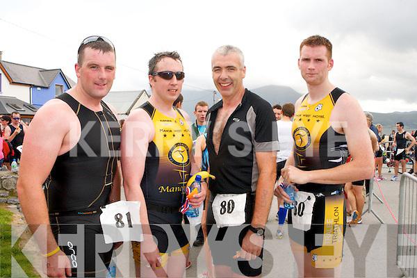 The Tri Kingdom Come Fenit triathlon on Saturday. Pio Boyle, David Barton, Brendan Courtney and Steven Reidy.
