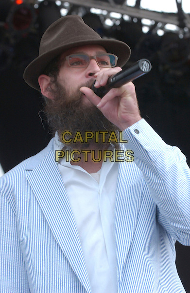 MITISYAHU.2nd Annual Virgin Festival By Virgin Mobile - Day Two held at Pimilco Race Course, Baltimore, Maryland, USA, 05 August 2007..band music live on stage concert gig half length beard hat glasses.CAP/ADM/DS.©Devin Simmons/AdMedia/Capital Pictures.