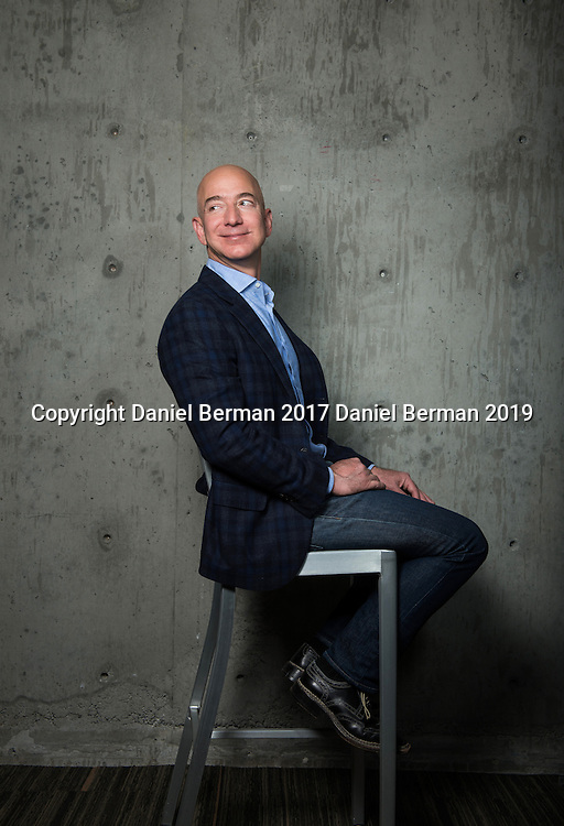Amazon.com CEO Jeff Bezos photographed in Seattle ahead of the company's 20th anniversary. Photo by Daniel Berman/www.bermanphotos.com