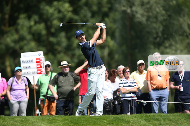 Andrea Pavan (ITA) on the 12th tee during Round Two of the 2015 BMW International Open at Golfclub Munchen Eichenried, Eichenried, Munich, Germany. 26/06/2015. Picture David Lloyd | www.golffile.ie