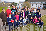 A CLASS APART: Celebrating the announcement of two new classrooms for St Joseph's national school in Castlemaine this week were pupils and parents along with principal Brendan Dennehy, John O'Donoghue TD, Cllr Michael O'Shea, builder Mike O'Shea and chairman of the Board of Management, Ted Murphy.