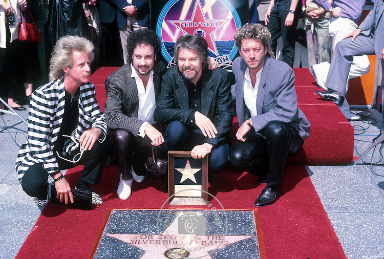 Bob Seger & The Silver Bullet Band - Chris Campbell, Alto Reed , Craig Frost - at the Hollywood Walk of Fame in 1987.