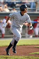 July 9th 2007:  Jose Gil of the Staten Island Yankees, Class-A affiliate of the New York Yankees, at Dwyer Stadium in Batavia, NY.  Photo by:  Mike Janes/Four Seam Images