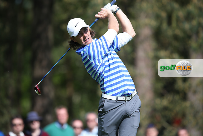 Tommy FLEETWOOD (ENG) during Round One of the 2015 BMW PGA Championship over the West Course at Wentworth, Virginia Water, London. Picture David Lloyd, www.golffile.ie: 21/05/2015