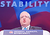 Conservative Party Conference Manchester Great Britain <br /> 5th October 2015 <br /> <br /> Secretary of State for Transport <br /> Patrick McLoughlin<br /> <br /> <br /> Photograph by Elliott Franks <br /> Image licensed to Elliott Franks Photography Services