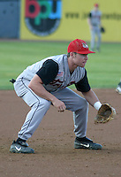 August 22, 2003:  Third Baseman Brook Koman of the Tri-City ValleyCats during a game at Dwyer Stadium in Batavia, New York.  Photo by:  Mike Janes/Four Seam Images