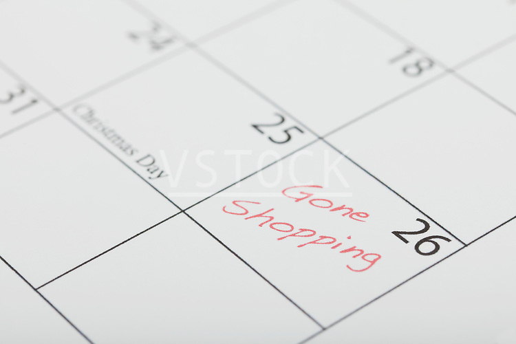 Close-up of calendar with Black Friday marked