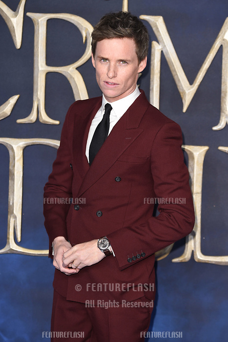 LONDON, UK. November 13, 2018: Eddie Redmayne at the &quot;Fantastic Beasts: The Crimes of Grindelwald&quot; premiere, Leicester Square, London.<br /> Picture: Steve Vas/Featureflash