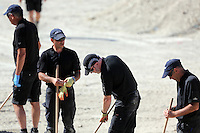 Pictured: Detective Inspector Jon Cousins (3rd L) of South Yorkshire Police works with colleagues at the farmhouse, where Ben Needham disappeared from in Kos, Greece. Friday 07 October 2016<br /> Re: Police teams led by South Yorkshire Police, searching for missing toddler Ben Needham on the Greek island of Kos have moved to a new area in the field they are searching.<br /> Ben, from Sheffield, was 21 months old when he disappeared on 24 July 1991 during a family holiday.<br /> Digging has begun at a new site after a fresh line of inquiry suggested he could have been crushed by a digger.
