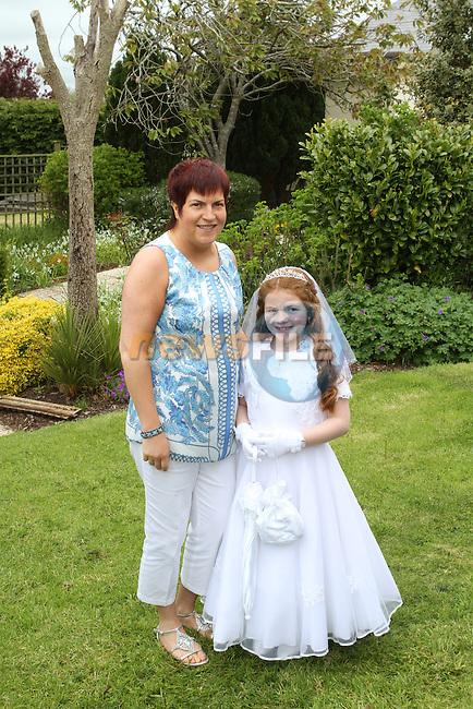 Connie Kirwan's Communion in the Glenside..(Photo Jenny Matthews/www.newsfile.ie)