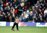 Photo: Richard Lane/Richard Lane Photography. Saracens v Biarritz. Heineken Cup. 15/01/2012. Saracens' Brad Barritt.