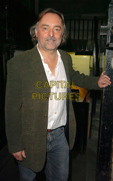 "RON COOK.At ""On The Ceiling"" West End Transfer and press night,.Garrick Theatre,.London, 12th September 2005.half length grey gray beard stubble eye contact green jacket white shirt.Ref: CAN.www.capitalpictures.com.sales@capitalpictures.com.©Capital Pictures"