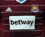 West Ham's new sponsor Betway on their shirts<br /> <br /> Barclays Premier League- West Ham United vs Manchester United  - Upton Park - England - 8th February 2015 - Picture David Klein/Sportimage