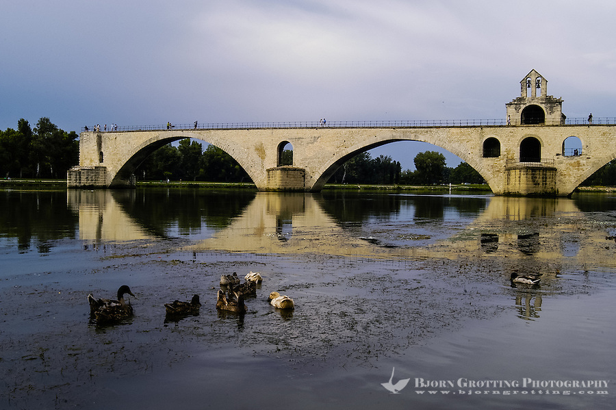 Pont d'Avignon is a famous medieval bridge in Avignon, France.