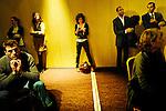 """Meeting de """"Génération France.fr""""  à l'hôtel Concorde Lafayette. Mardi 8 février 2011. Photo Benjamin Géminel."""