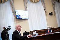 Dr. Robert Redfield, Director of the Centers for Disease Control and Prevention, listens during a House Appropriations Subcommittee hearing on Capitol Hill in Washington, D.C., U.S., on Thursday, June 4, 2020. <br /> Credit: Al Drago / Pool via CNP/AdMedia