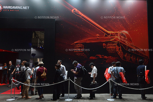 September 19, 2013, Tokyo, Japan - The Tokyo Game Show, one of the world's biggest trade show for video game developers, opens in Makuhari, east of Tokyo, on Thursday, September 19, 2013. Sony and Microsoft are the two most-focused exhibitors this year, showcasing new consoles - PlayStation 4 from Sony and Microsoft's Xbox One - in the four-day run. (Photo by Natsuki Sakai/AFLO)