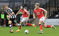Cameron McGeehan of Luton Town burst forwards during the Sky Bet League 2 match between Notts County and Luton Town at Meadow Lane, Nottingham, England on 29 October 2016. Photo by Liam Smith / PRiME Media