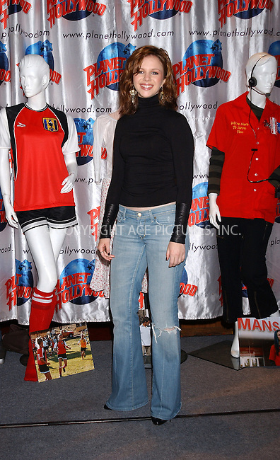 WWW.ACEPIXS.COM . . . . . ....NEW YORK, MAY 25, 2005....Amber Tamblyn at a promotional event held at Planet Hollywood to promote her new movie 'Sisterhood of the Traveling Pants.'....Please byline: KRISTIN CALLAHAN - ACE PICTURES.. . . . . . ..Ace Pictures, Inc:  ..Craig Ashby (212) 243-8787..e-mail: picturedesk@acepixs.com..web: http://www.acepixs.com