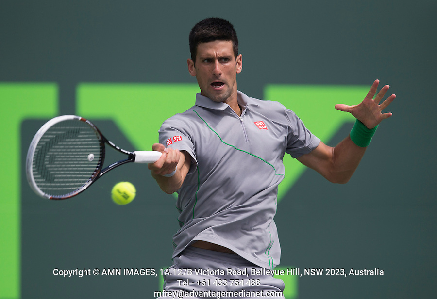 NOVAK DJOKOVIC (SRB)<br /> Tennis - Sony Open -  Miami -   ATP-WTA - 2014  - USA  -  25 March 2014. <br /> <br /> &copy; AMN IMAGES