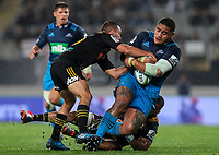 Ofa Tuungafasi of the Blues during the Super Rugby Match between the Blues and the Chiefs at Eden Park in Auckland, New Zealand on Friday, 26 May 2017. Photo: Simon Watts / www.lintottphoto.co.nz