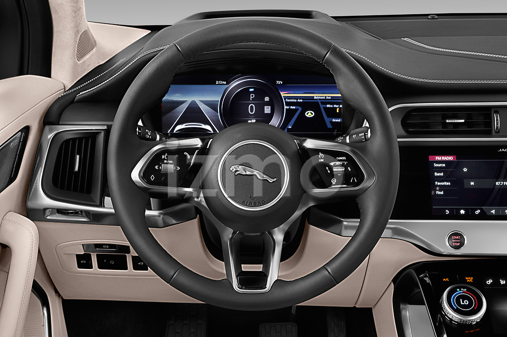 Car pictures of steering wheel view of a 2019 Jaguar I Pace HSE 5 Door Hatchback