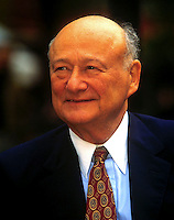 Former New York City Mayor Edward I. Koch at the dedication ceremony for the Fiorello LaGuardia Statue on June 10, 1995. (© Richard B. Levine)