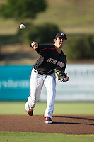 Kannapolis Intimidators starting pitcher Yelmison Peralta (33) in action against the Hagerstown Suns at CMC-Northeast Stadium on June 16, 2015 in Kannapolis, North Carolina.  The Suns defeated the Intimidators 8-4.  (Brian Westerholt/Four Seam Images)