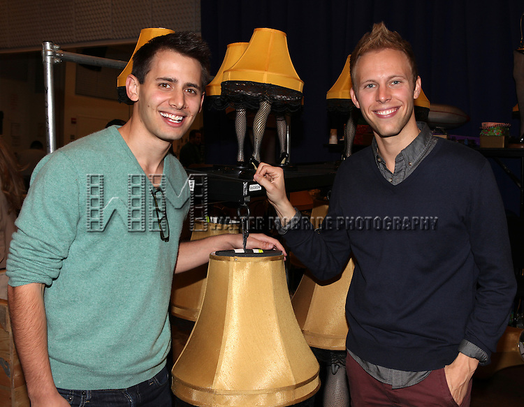 Benj Pasek and Justin Paul attends the Meet & Greet for 'A Christmas Story, The Musical' at the New 42nd Street Studios on 10/22/2012 in New York City.