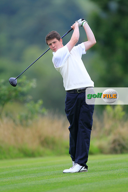 Peter Cummins (Ulster) on the 10th tee during the Boys Under 15 Interprovincial Championship Morning Round at the West Waterford Golf Club on Wednesday 22nd August 2013 <br /> Picture:  Thos Caffrey/ www.golffile.ie